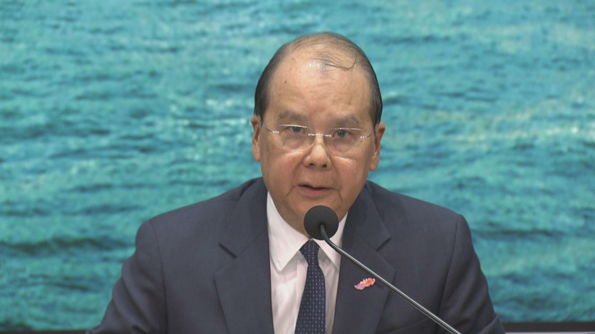 張建宗譴責示威者暴力升級 挑戰國家權威