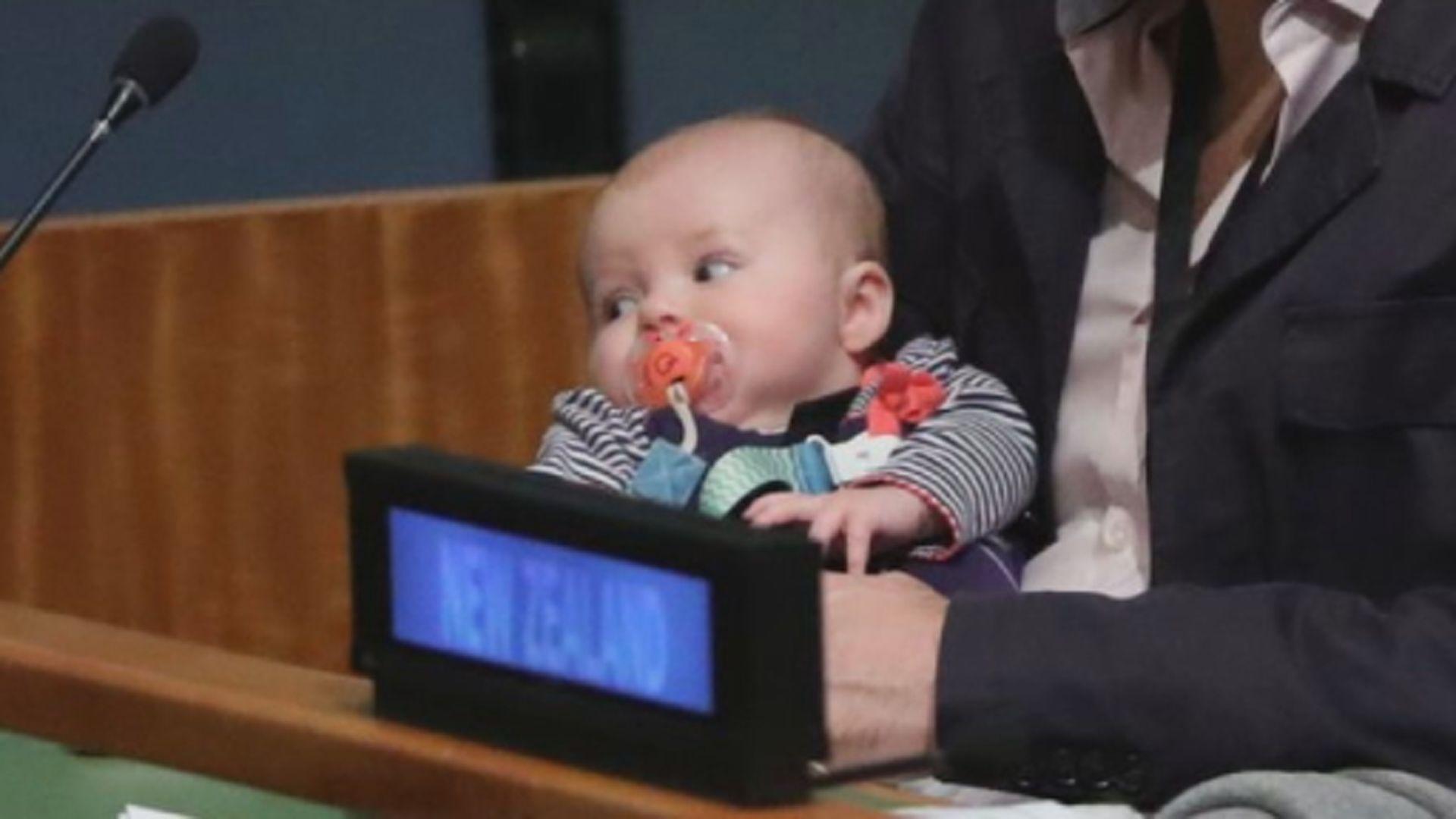 【環球薈報】新西蘭總理帶女兒出席聯合國大會