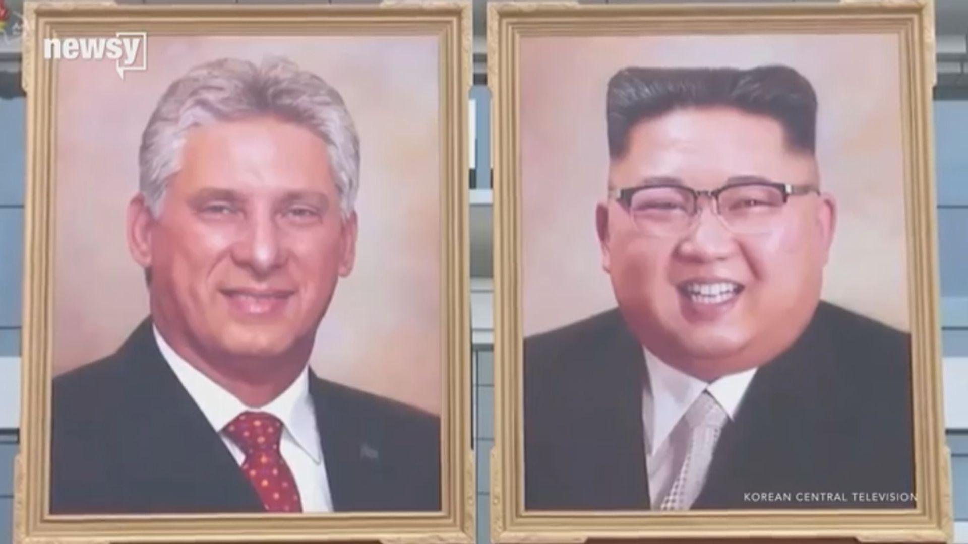 【環球薈報】北韓首度公開展示金正恩肖像畫