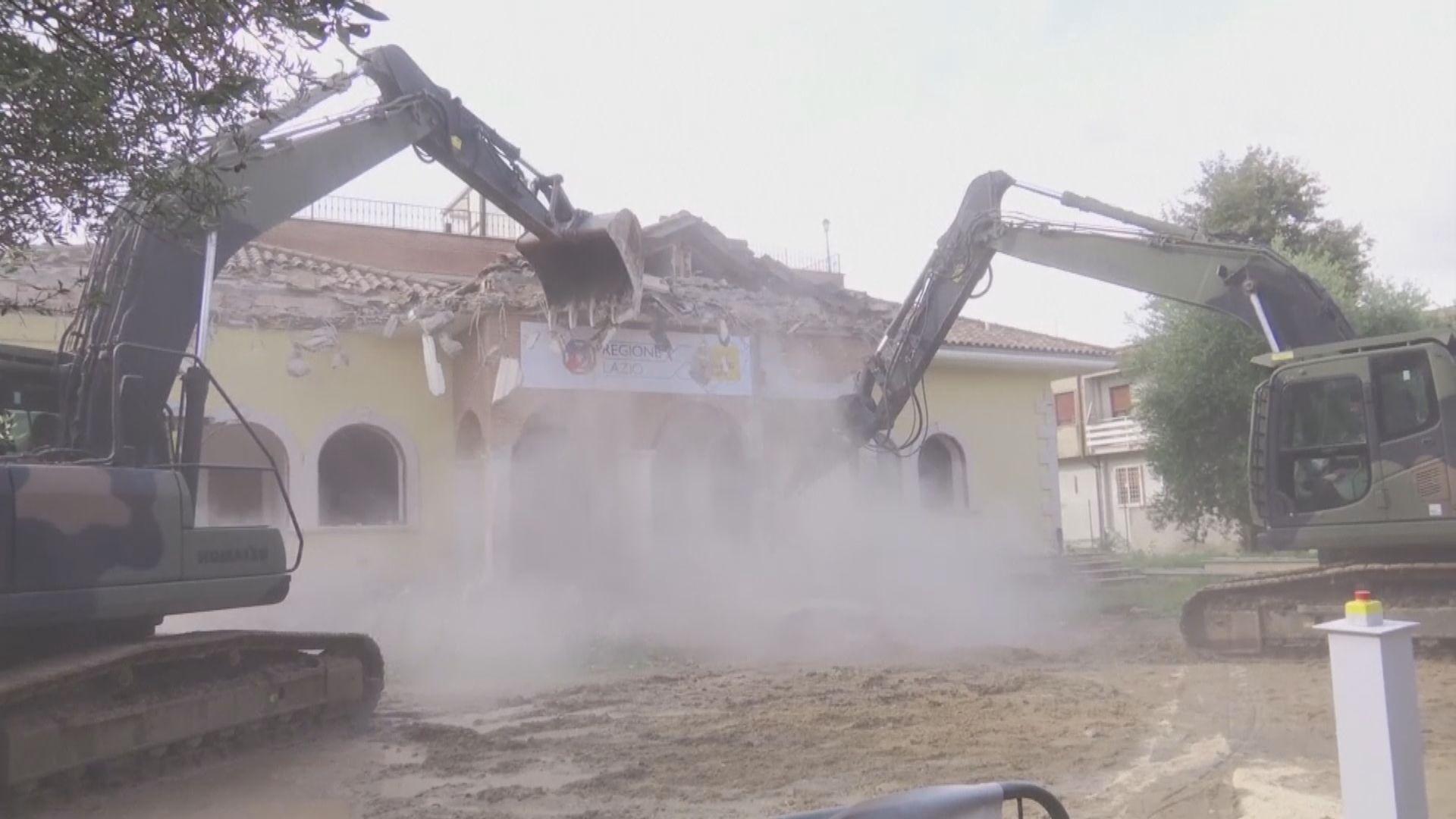 【環球薈報】意內政部長親身拆毀犯罪集團豪宅