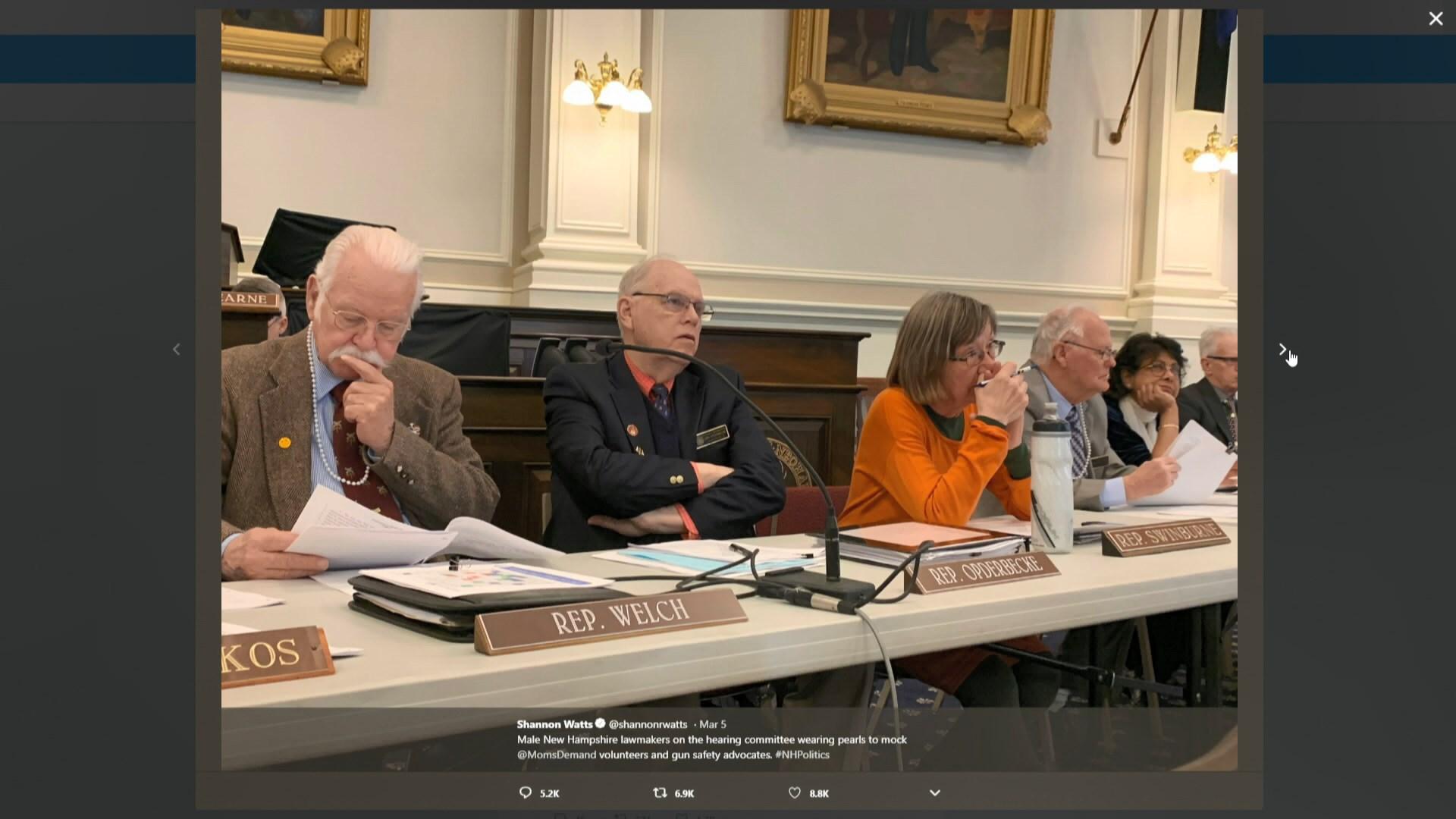 【環球薈報】共和黨州議員戴珠鏈出席聽證會捱轟