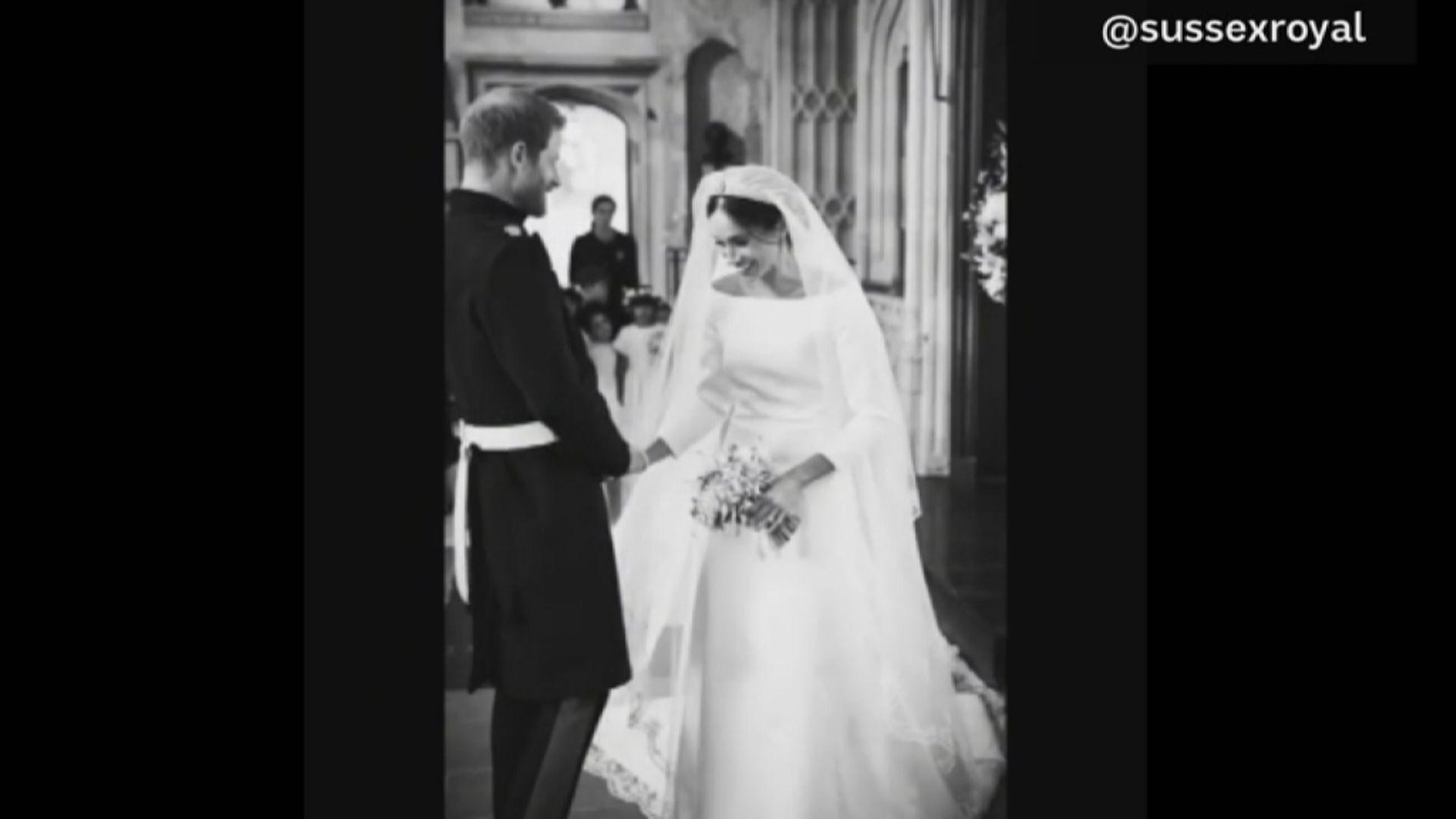 【環球薈報】哈里梅根公開未曝光婚禮照片慶祝紙婚
