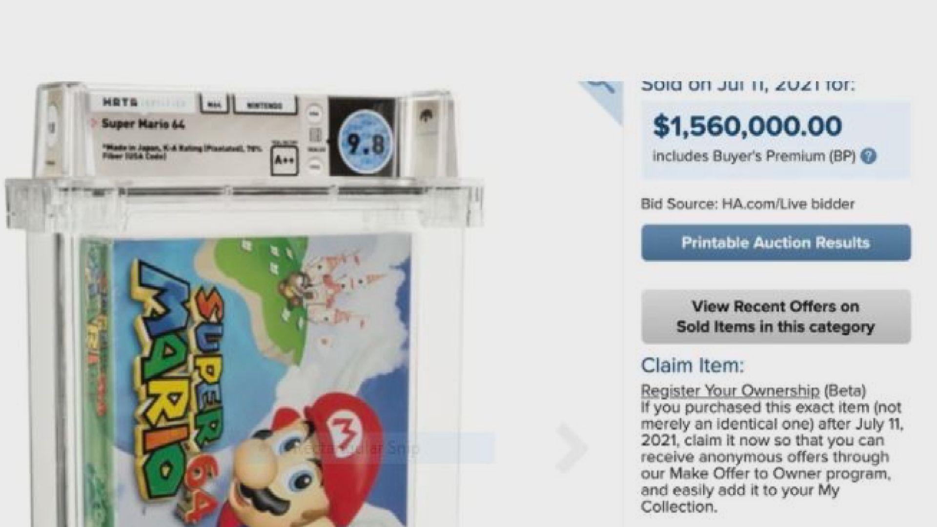 【環球薈報】任天堂未拆封「超級瑪利歐64」成交價156萬美元