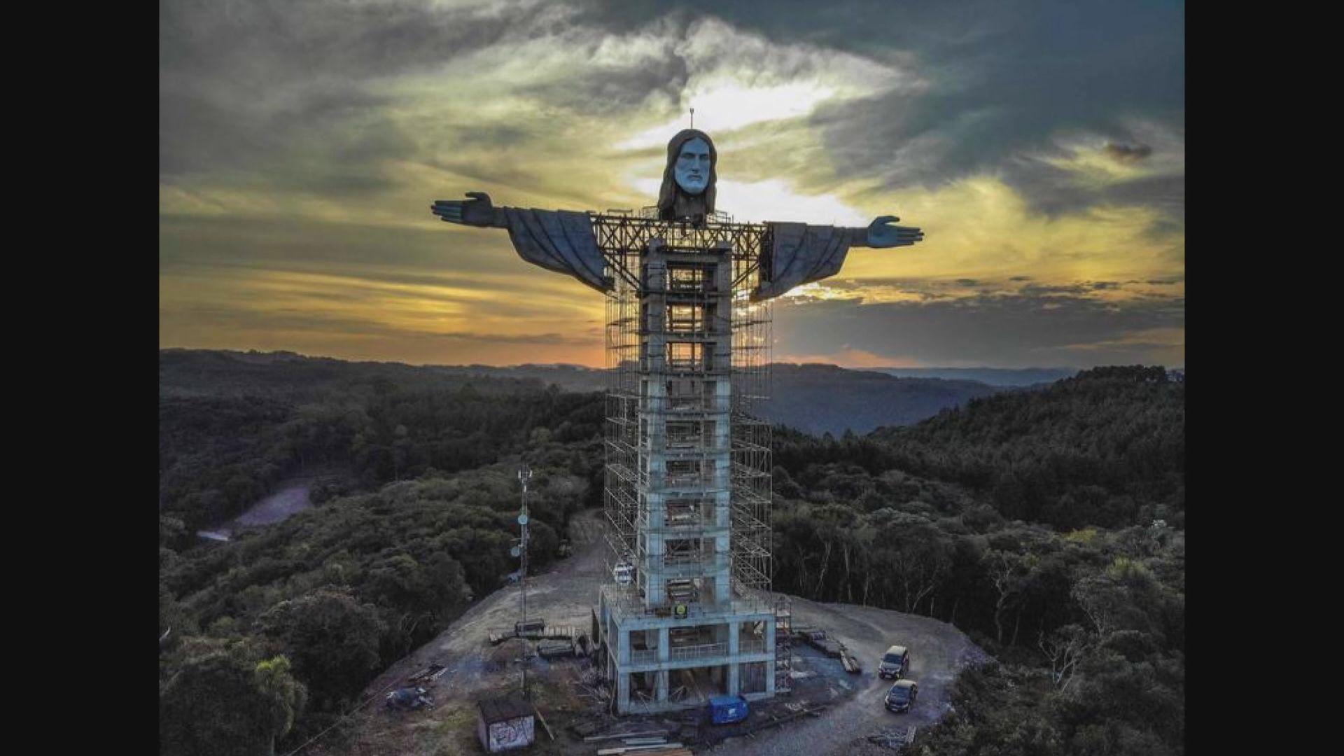 【環球薈報】巴西南部小鎮建造43米高耶穌基督像