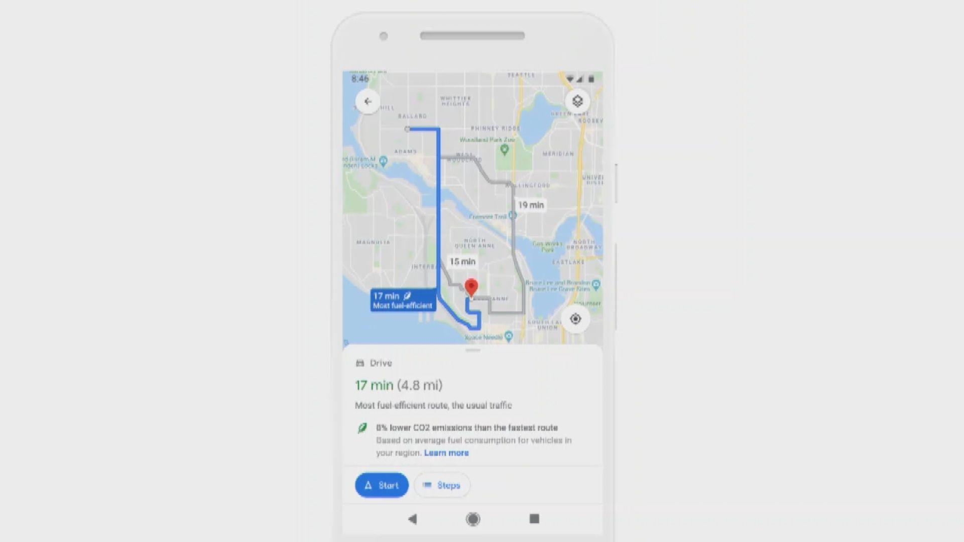 【環球薈報】Google Maps將加入新功能助司機選擇低碳路線
