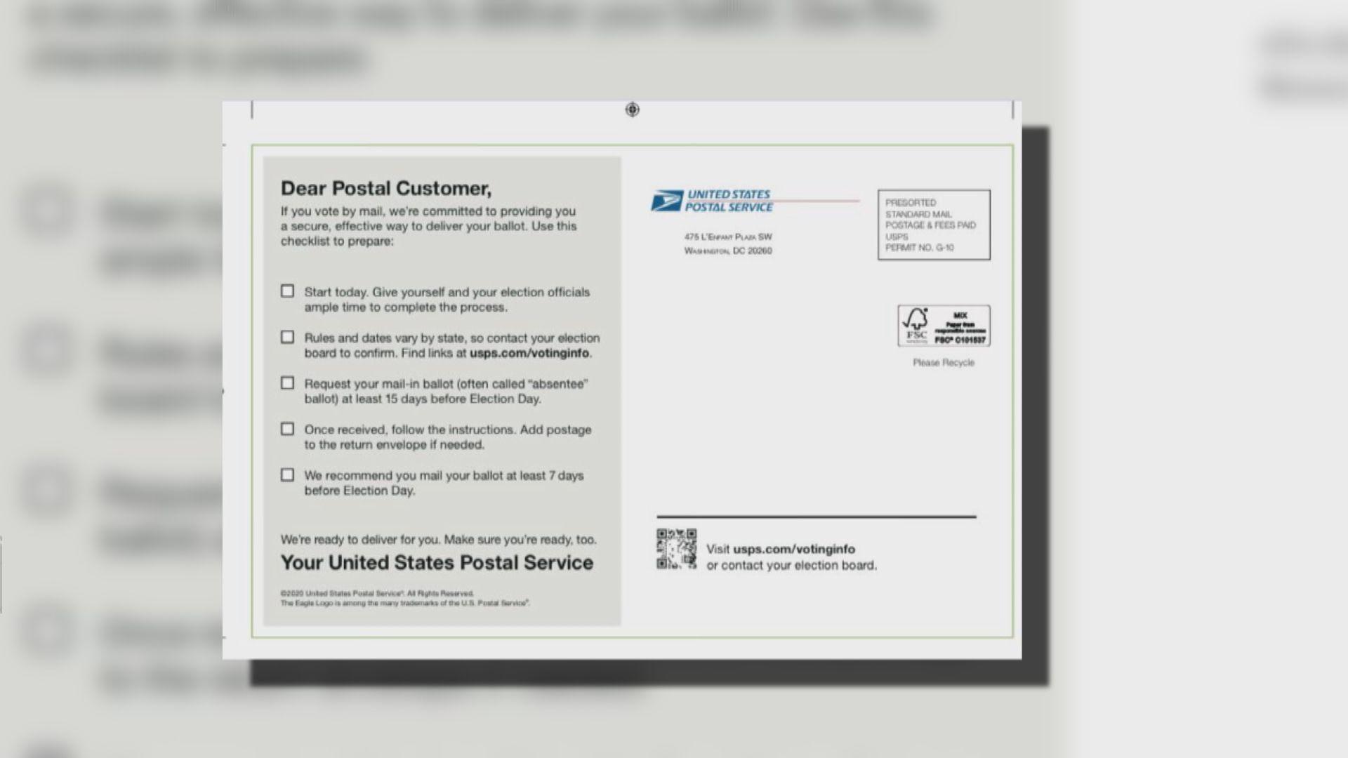 【環球薈報】美國郵政署暫時被禁寄出選前郵件