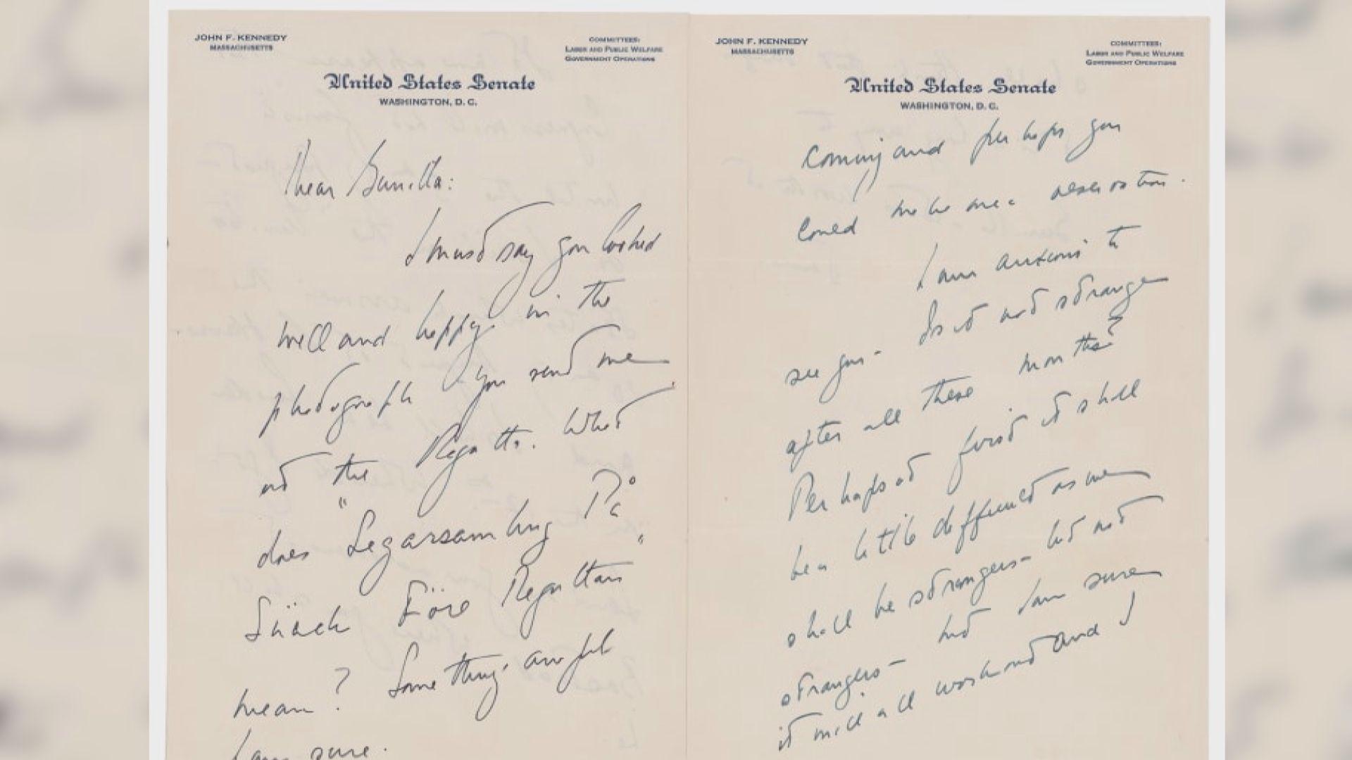 【環球薈報】約翰甘迺迪致情婦手寫情書被拍賣 料得逾三萬美元