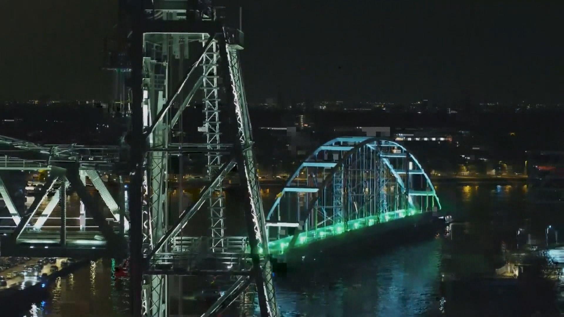 【環球薈報】百米大橋穿梭鹿特丹河道
