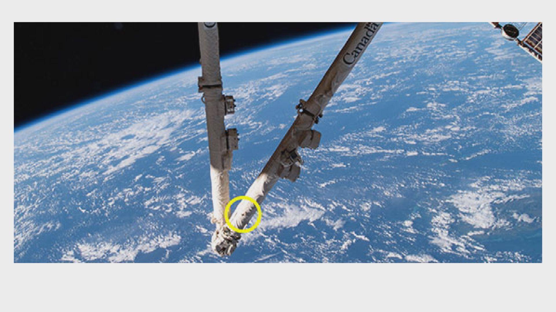【環球薈報】國際太空站機械臂遭太空垃圾撞擊