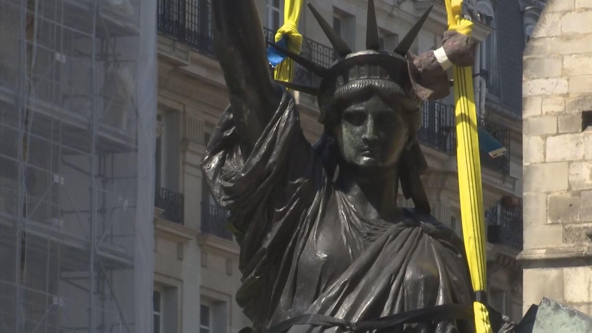 【環球薈報】法國借出「姐妹版」自由神像給美國