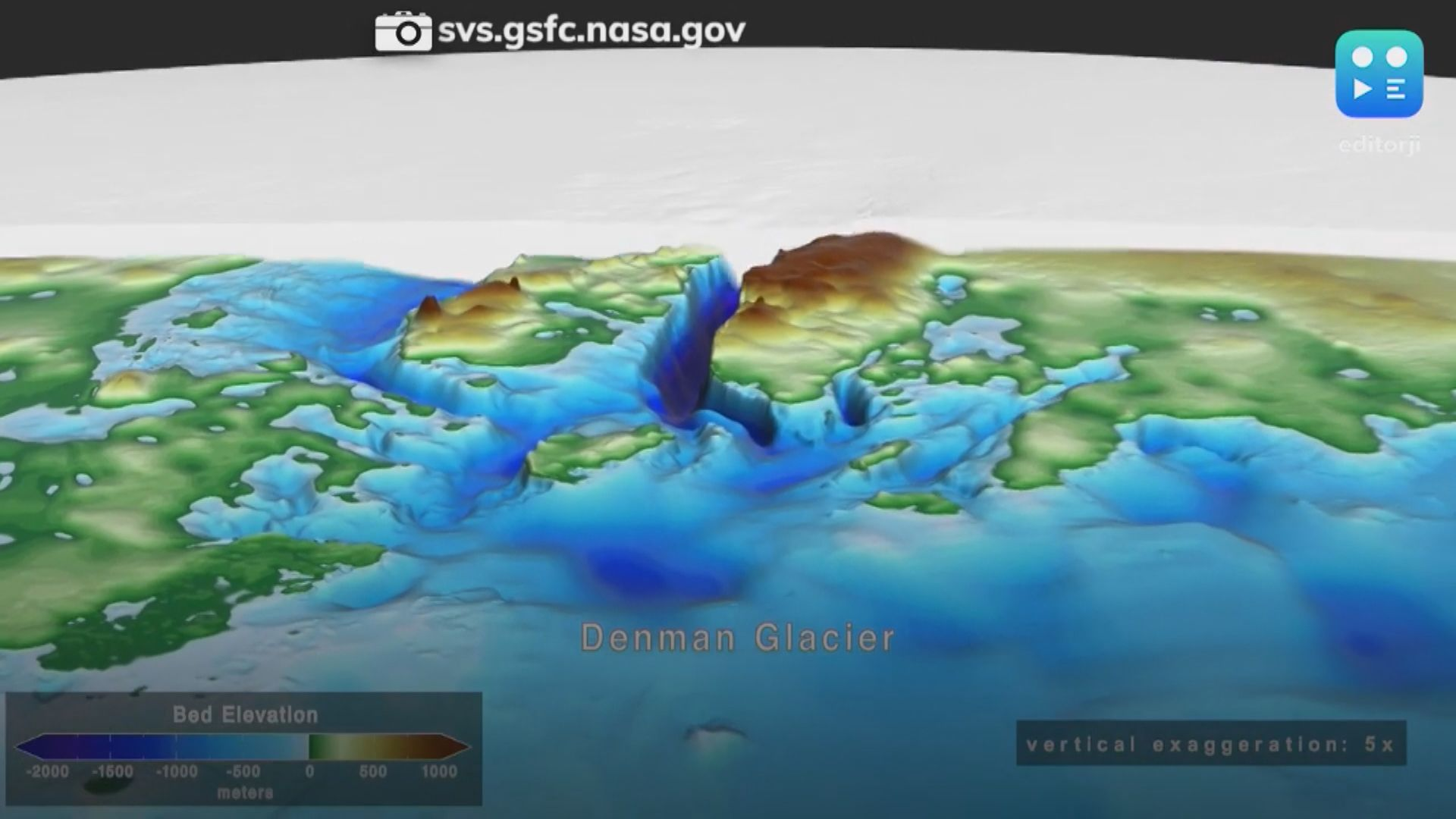 【環球薈報】科學家南極洲冰川發現陸地最低點深谷