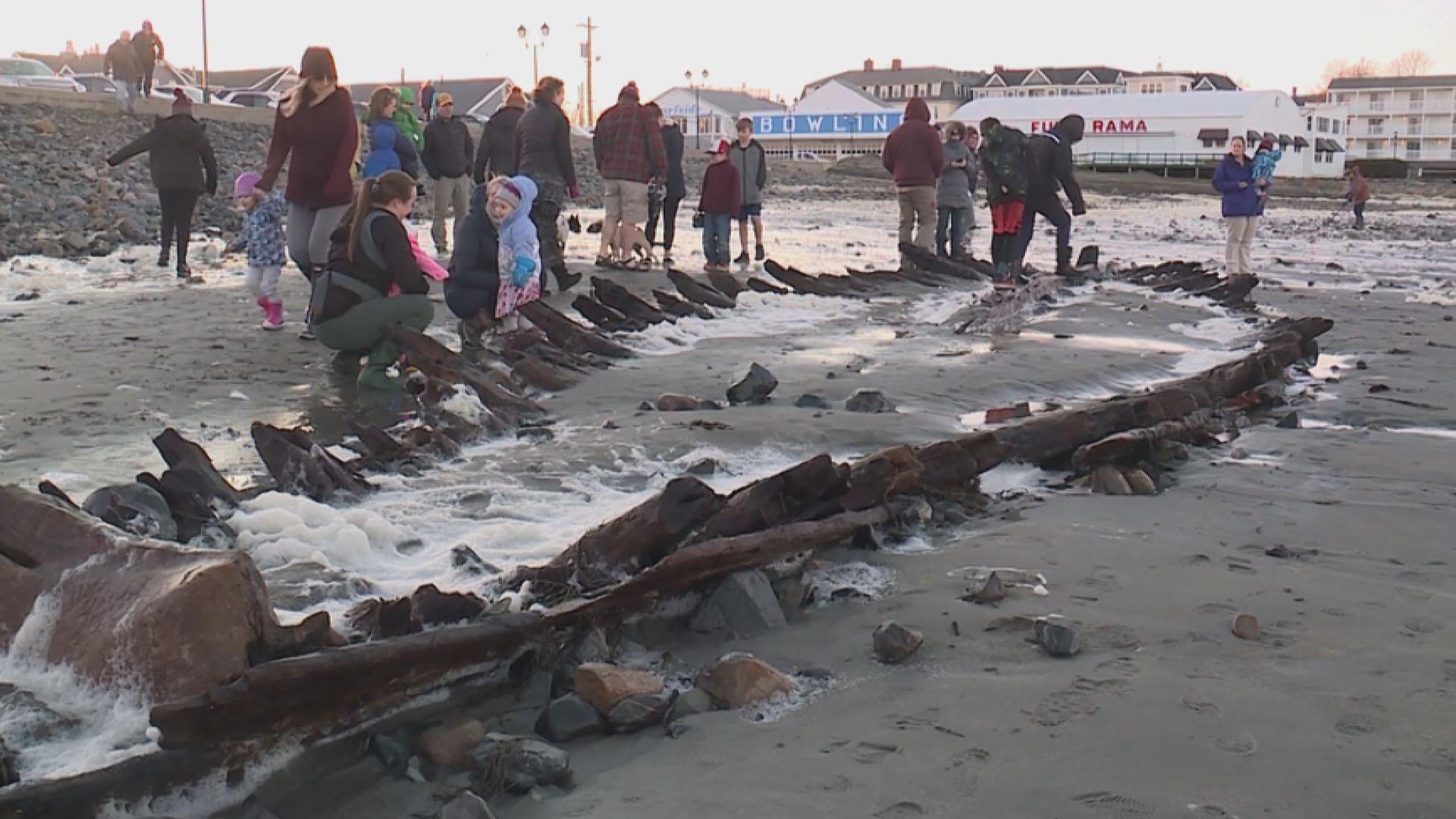 【環球薈報】緬因州沙灘神秘沉船殘骸相信為英國貨船