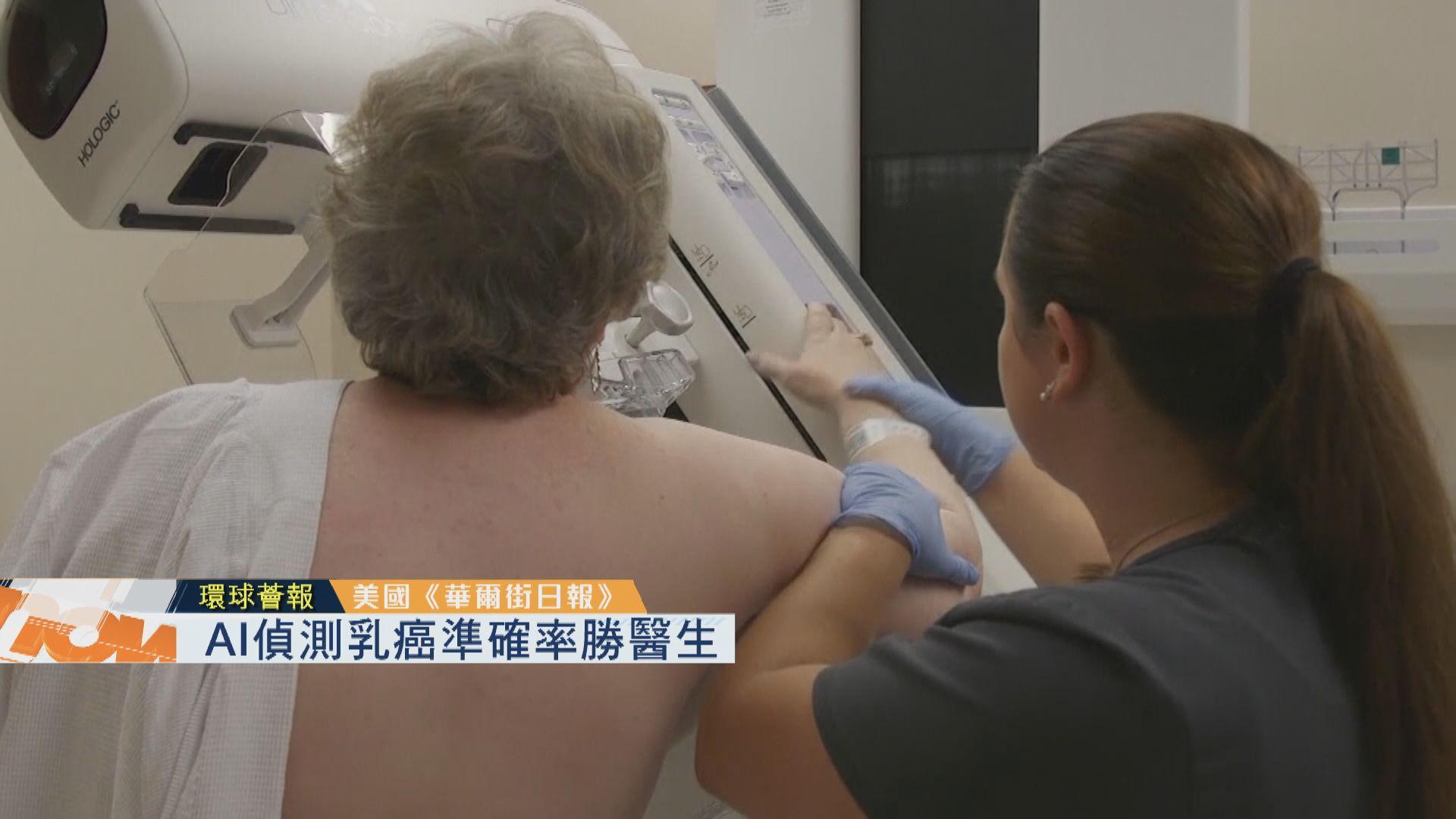 【環球薈報】AI偵測乳癌準確率勝醫生