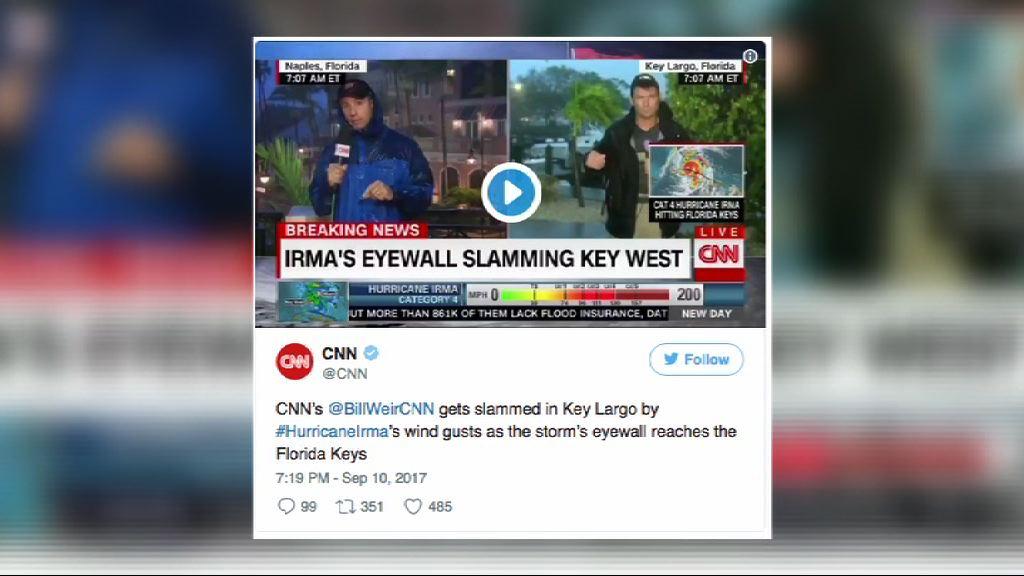 【環球薈報】美記者風暴下戶外直播惹爭議