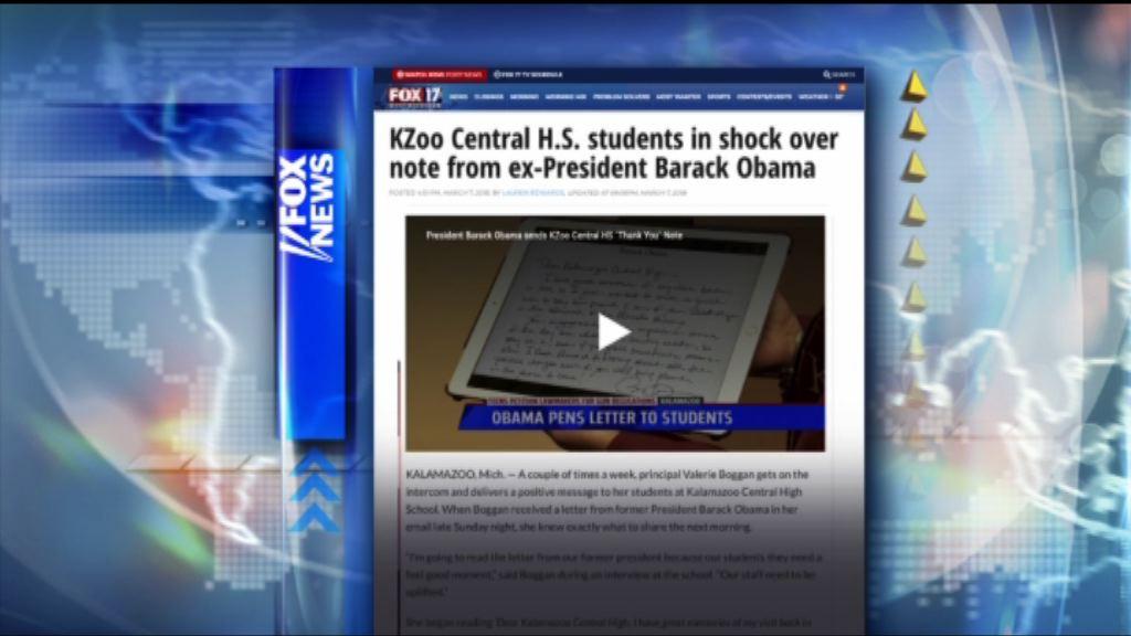 【環球薈報】奧巴馬寫信給學生支持加強槍管