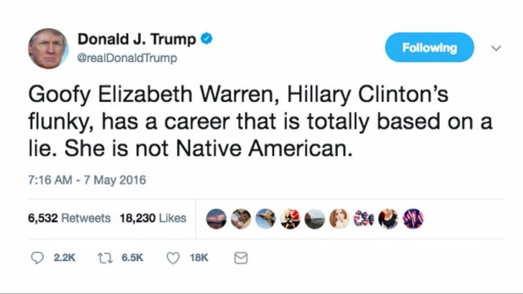 【環球薈報】特朗普以印第安裔歷史名人諷參議員