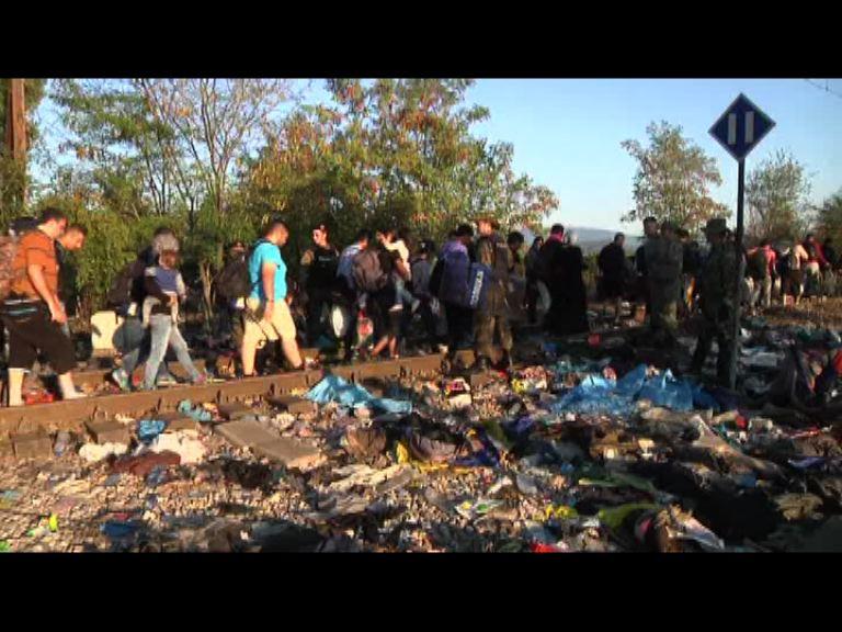 馬其頓過境難民源源不絕