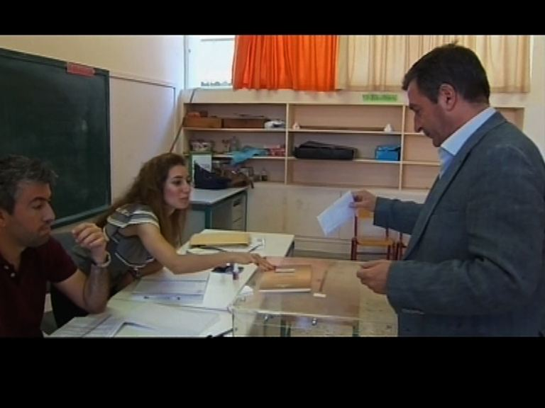 希臘總理齊普拉斯已到票站投票