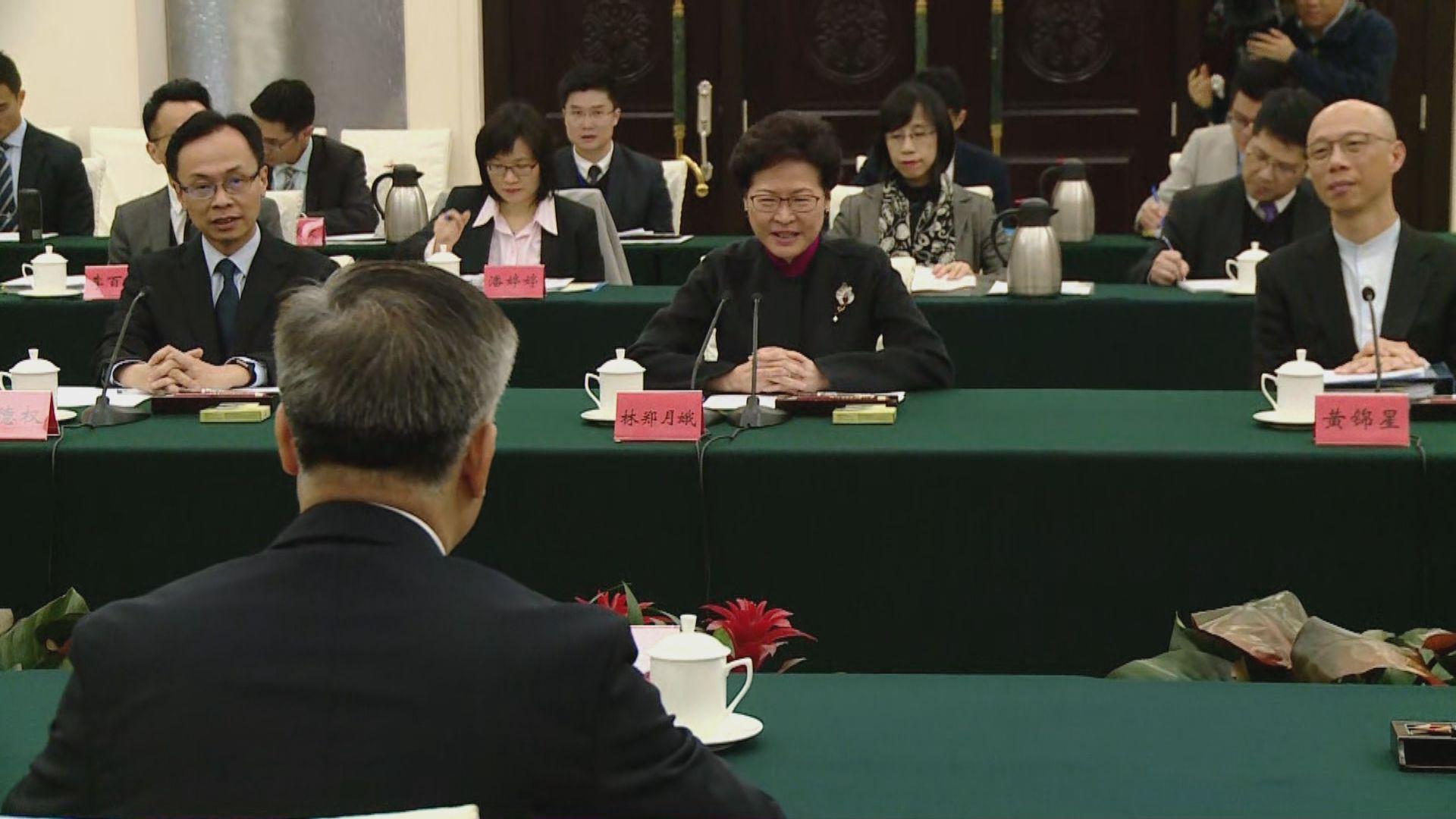 林鄭月娥乘高鐵赴廣州商大灣區合作