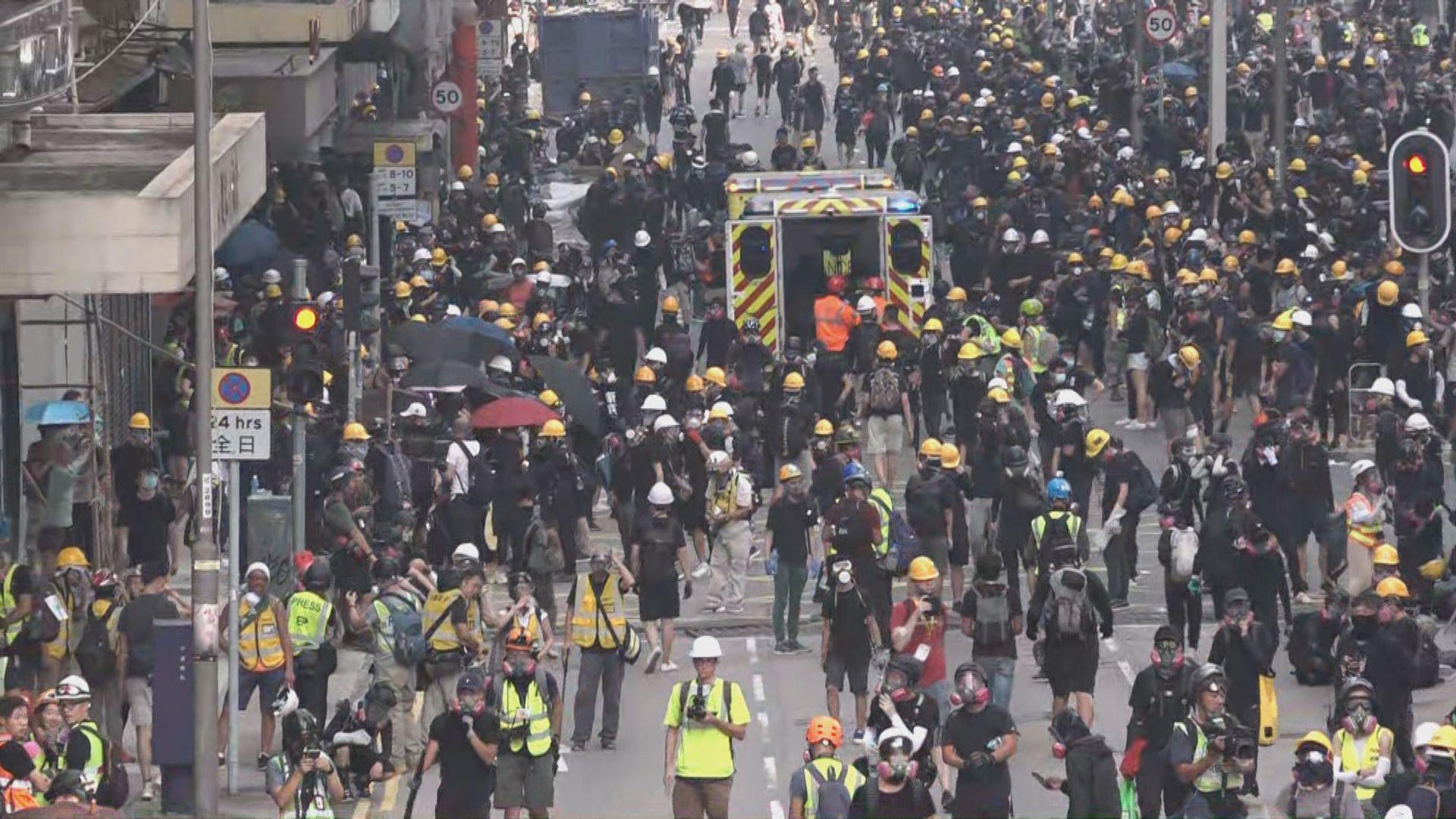 醫管局:十人因示威受傷入院