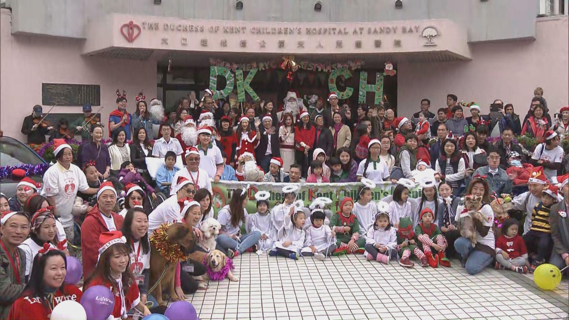 大口環兒童醫院為病童慶祝聖誕
