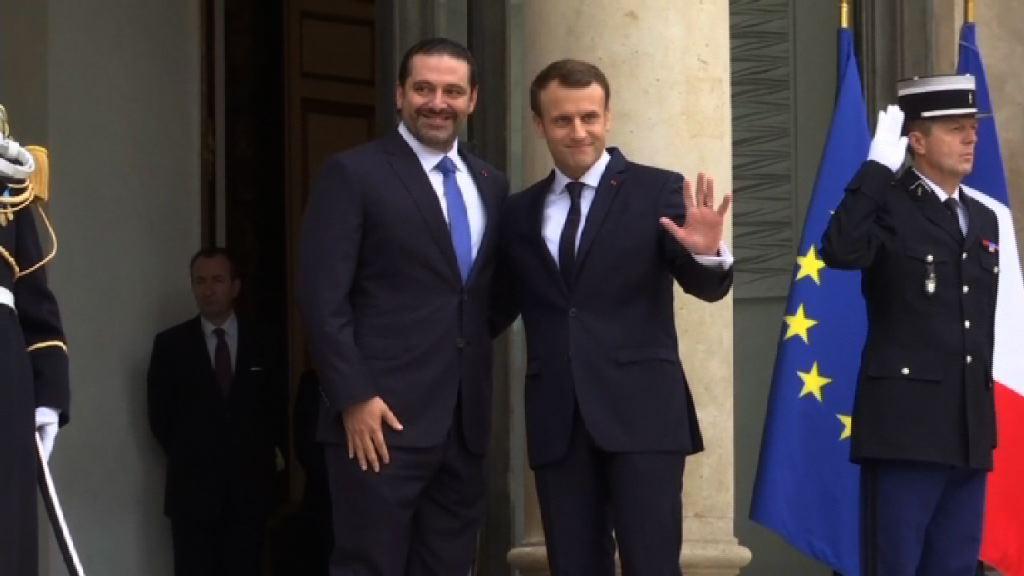 黎巴嫩總理抵達巴黎與馬克龍會晤