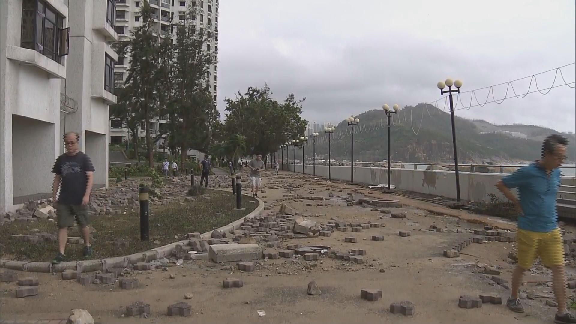 杏花邨受山竹嚴重破壞