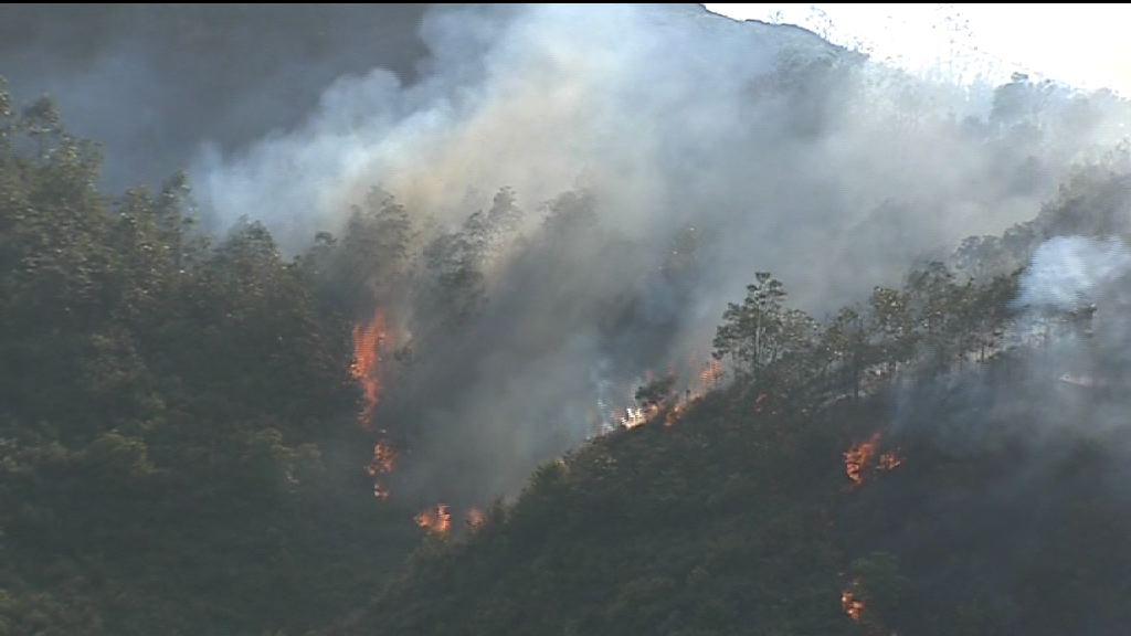 紅色火災警告下多處山火