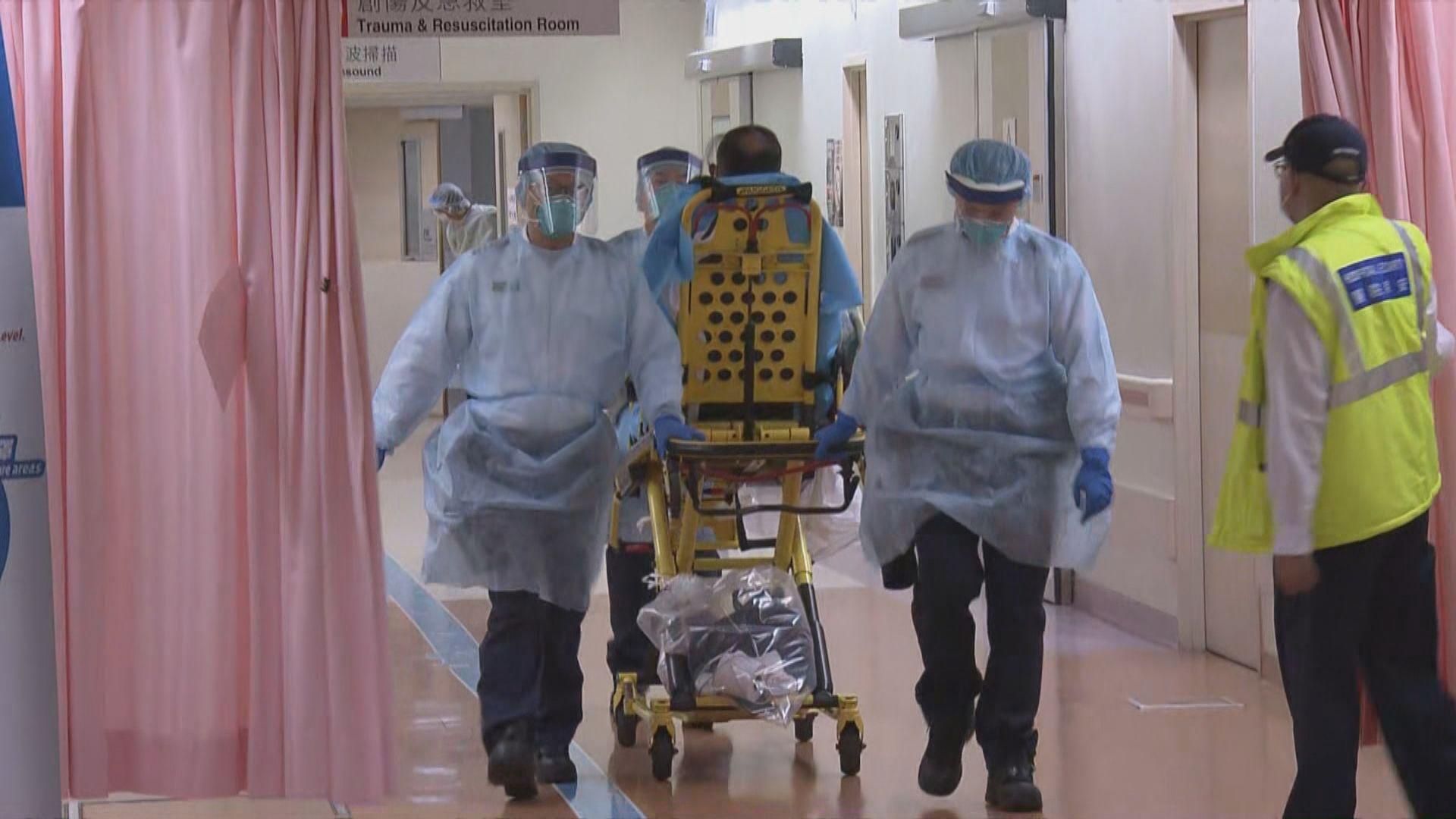 56歲威院病人對新型冠狀病毒呈陽性反應