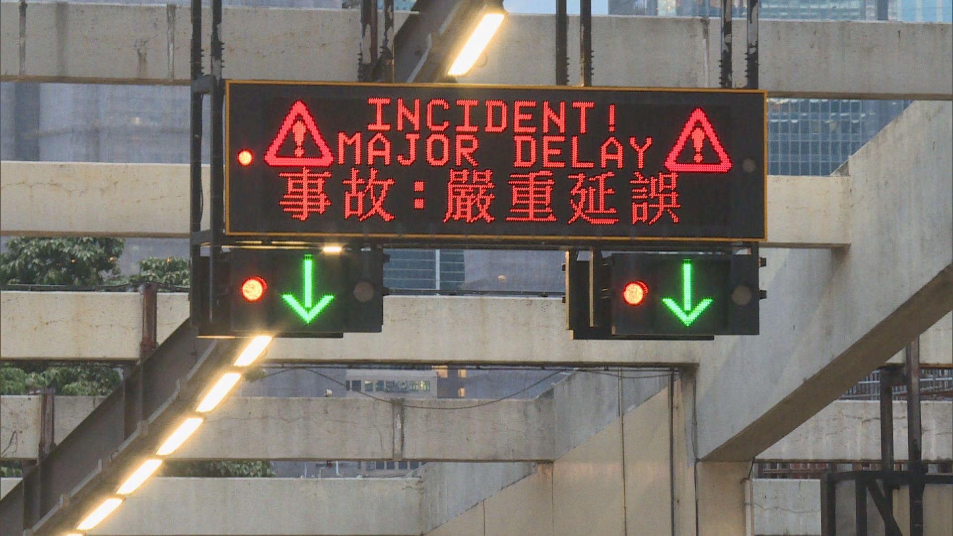 紅隧九龍入口被堵塞港島交通受影響