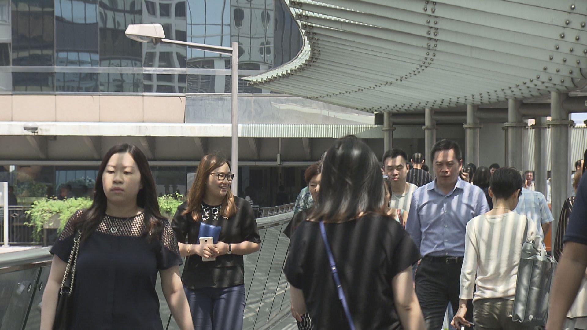 本港最新失業率升至百分之3.3 逾兩年半以來最高