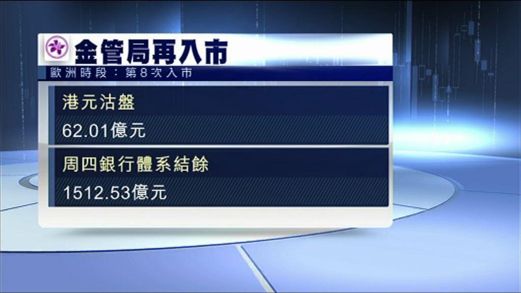 金管再接逾62億港元 結餘降至1512億