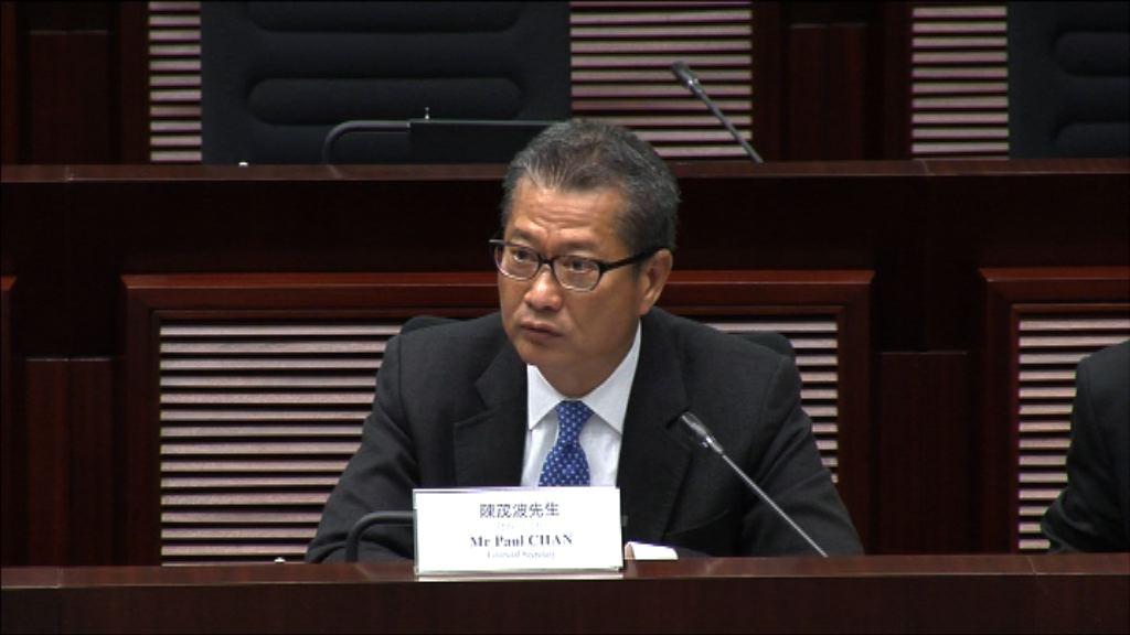 陳茂波:私人住宅增加 料對樓市構壓力