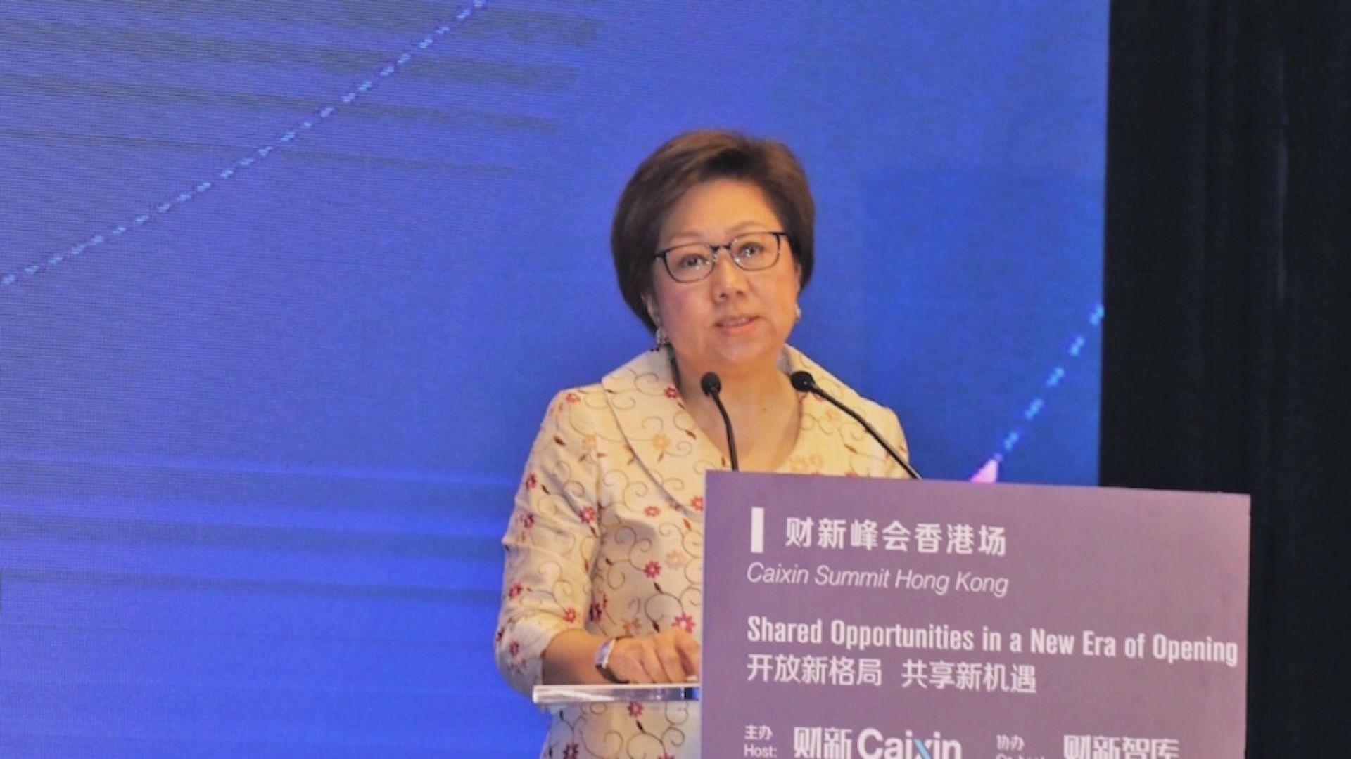 史美倫:見不到香港有顯著資金流走