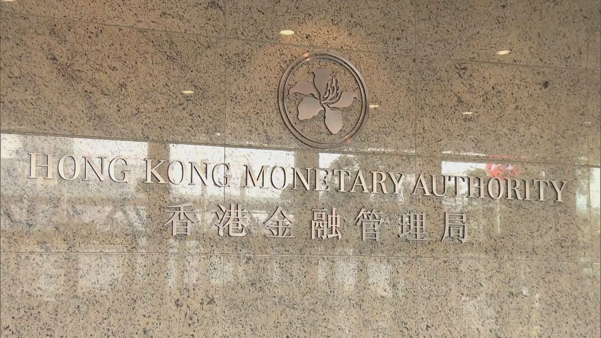港元弱勢 金管局承接約15億港元沽盤