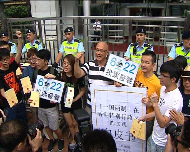 多個團體遊行反對白皮書