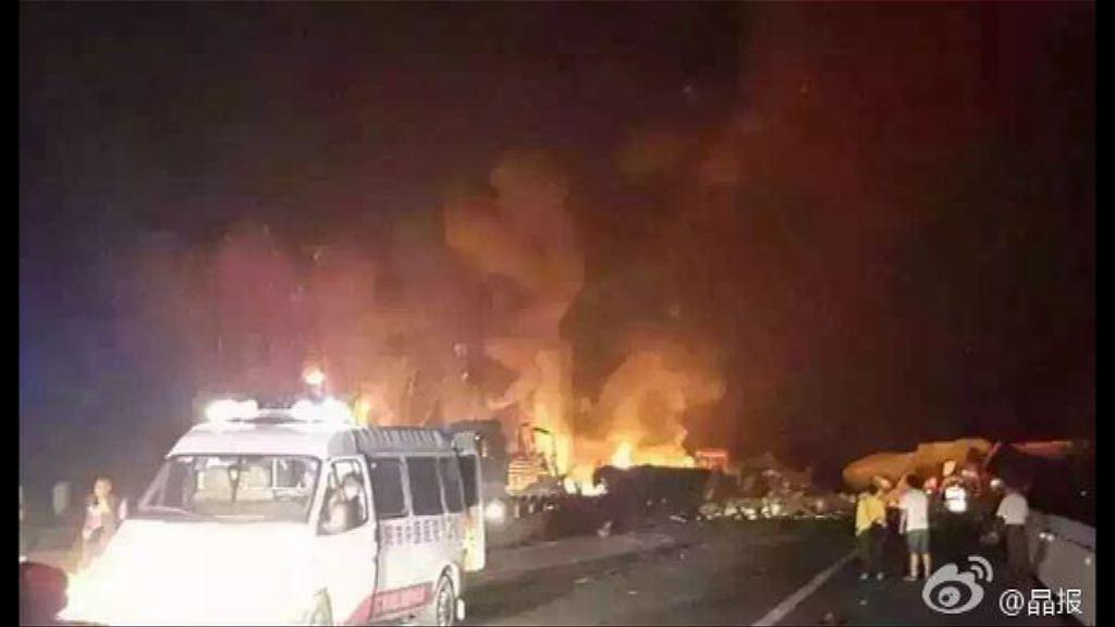 湖南京港澳高速油罐車爆炸2死