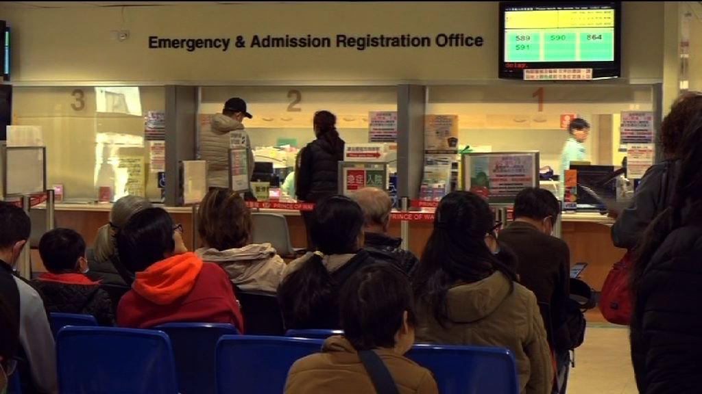 急症室有病人滯候入院逾12小時