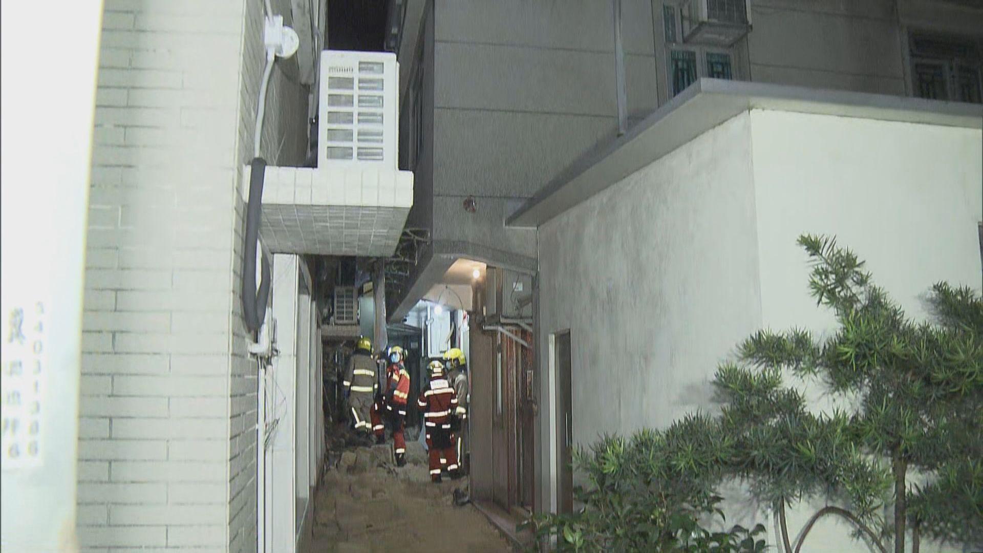 天水圍村屋倒塌一婦人受傷