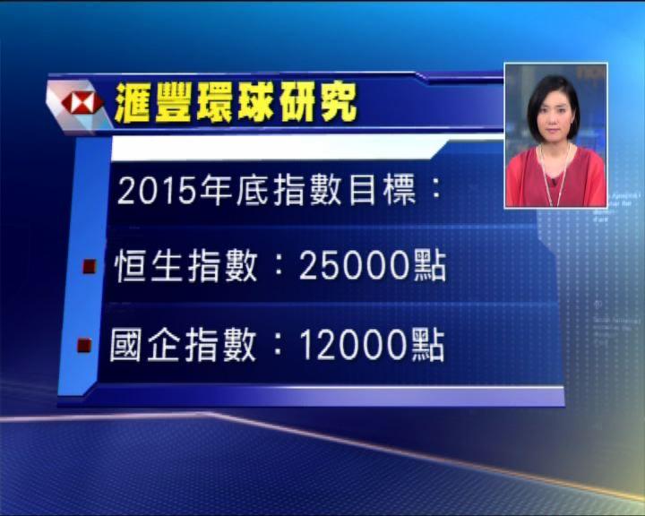 滙豐:恒指明年睇25000