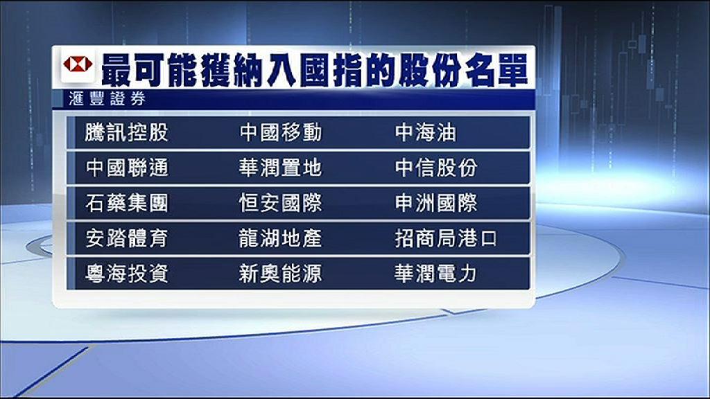 【國指改革】滙證:騰訊、中移動等有望獲納入