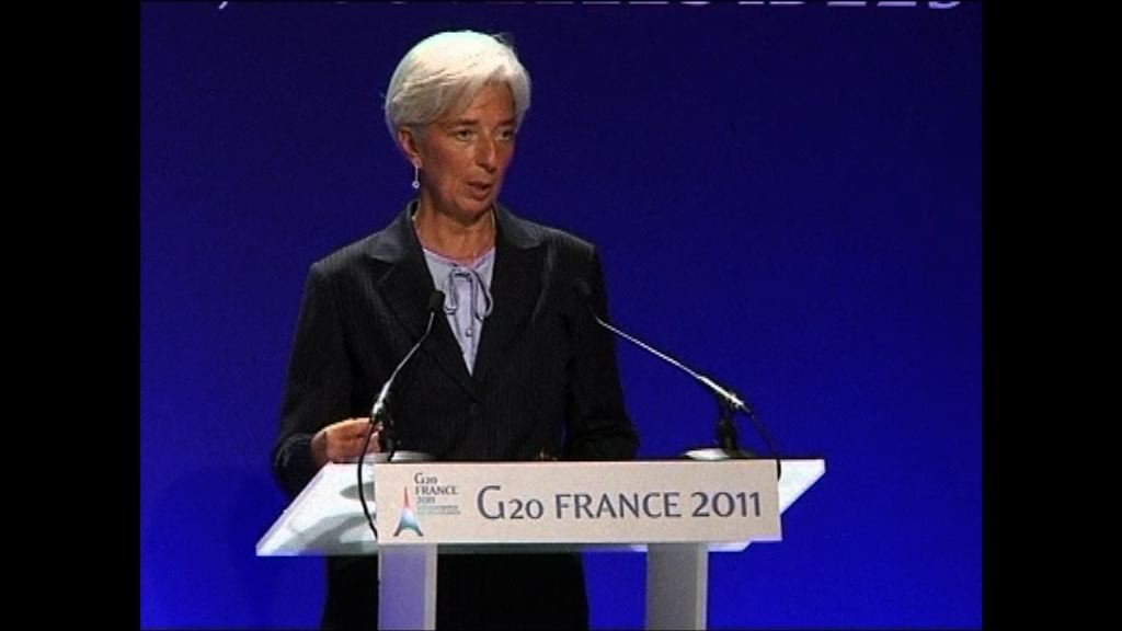 拉加德料IMF下周降全球經濟增長預測