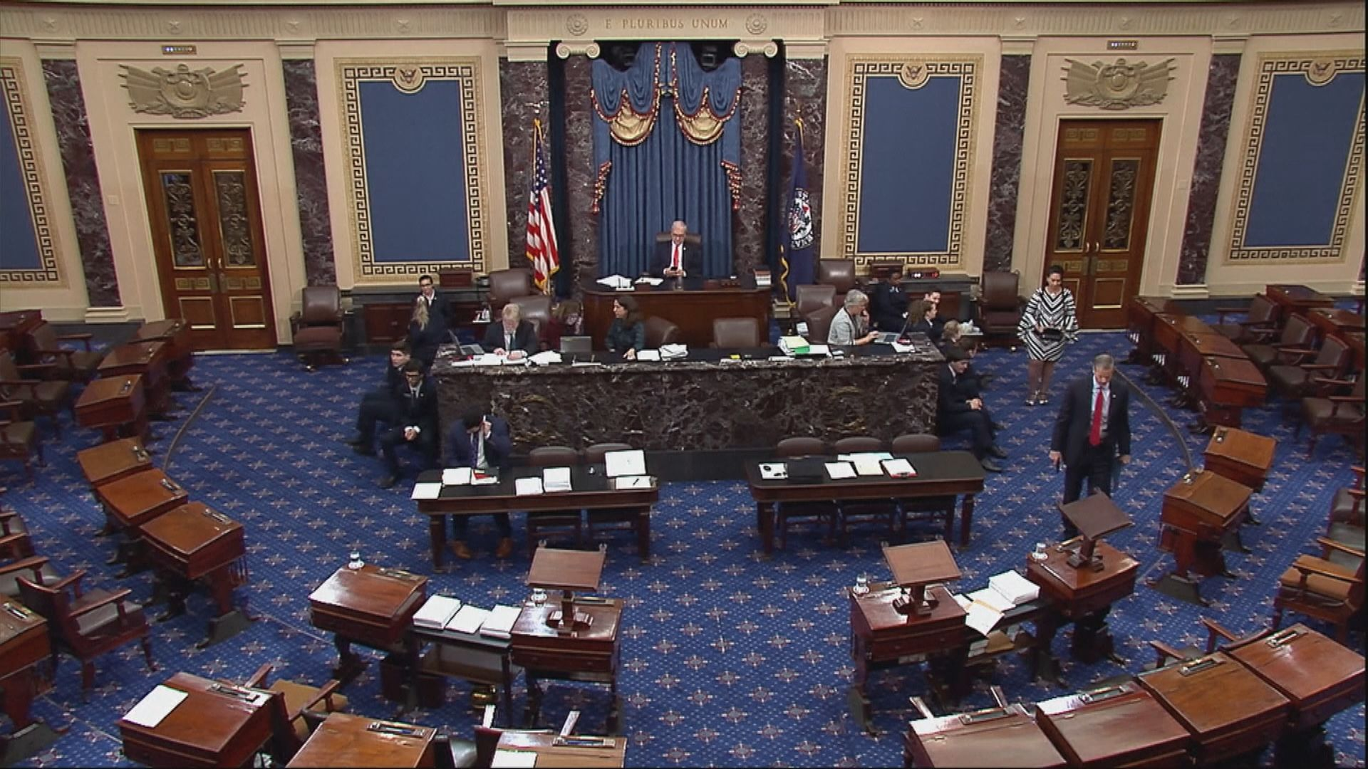 參議院多數黨領袖決定彈劾審訊流程