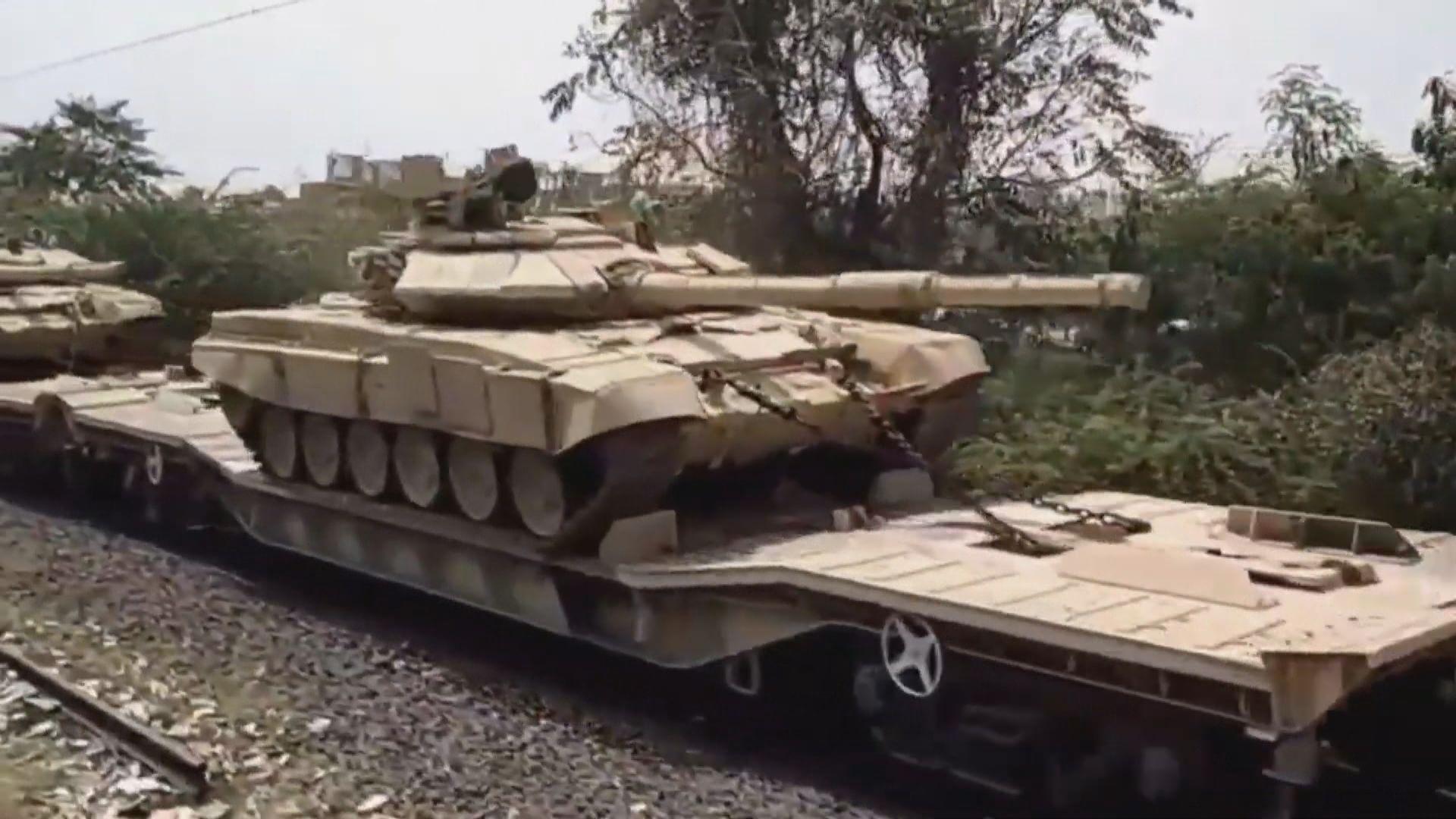 印度據指向中國邊境加派坦克