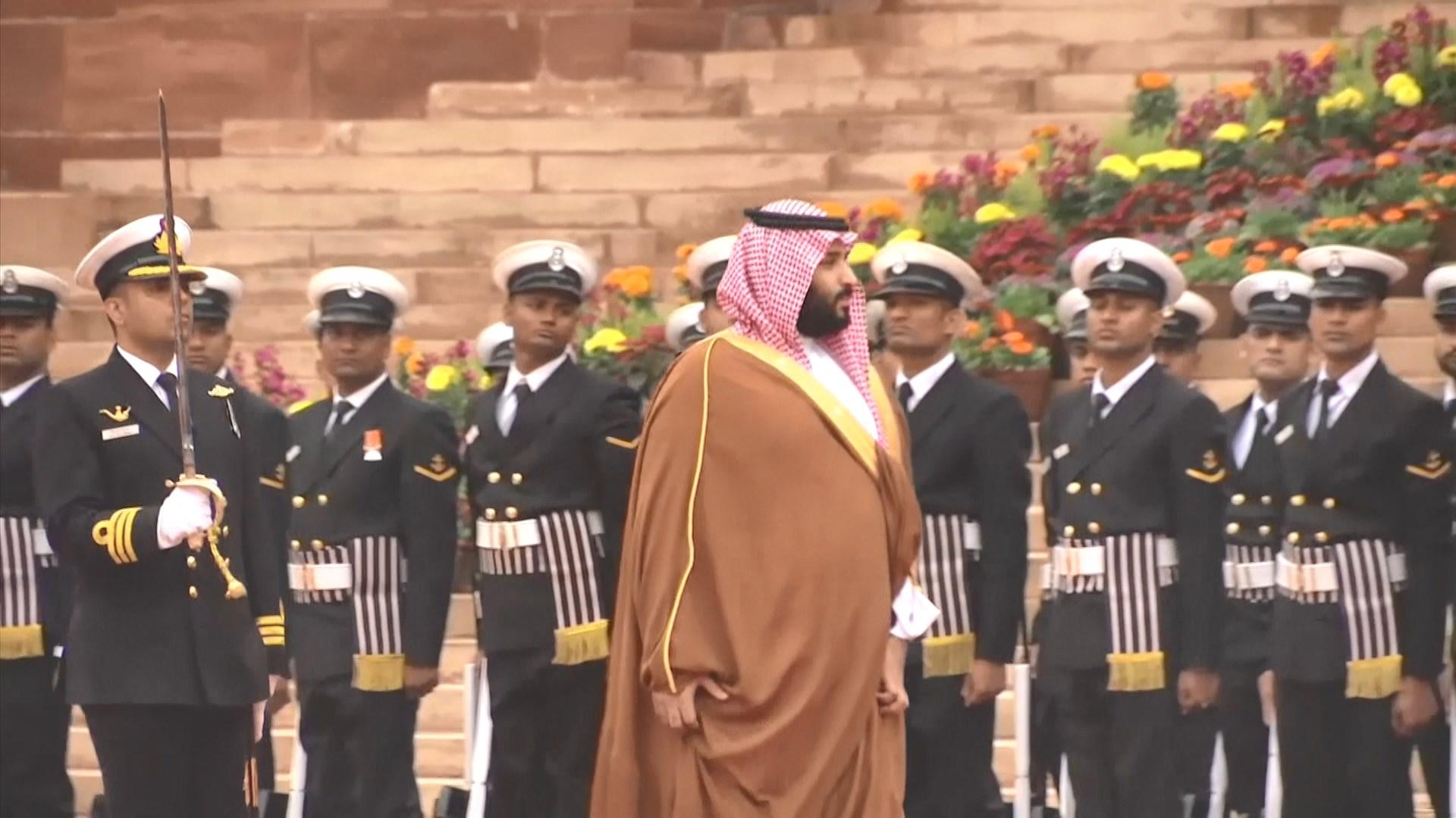 沙特王儲到訪印度 料簽署多項協議