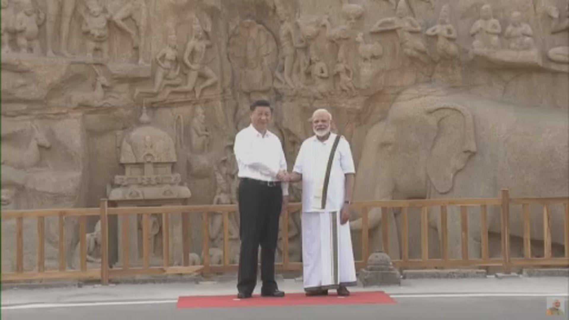習近平抵印度與莫迪會晤