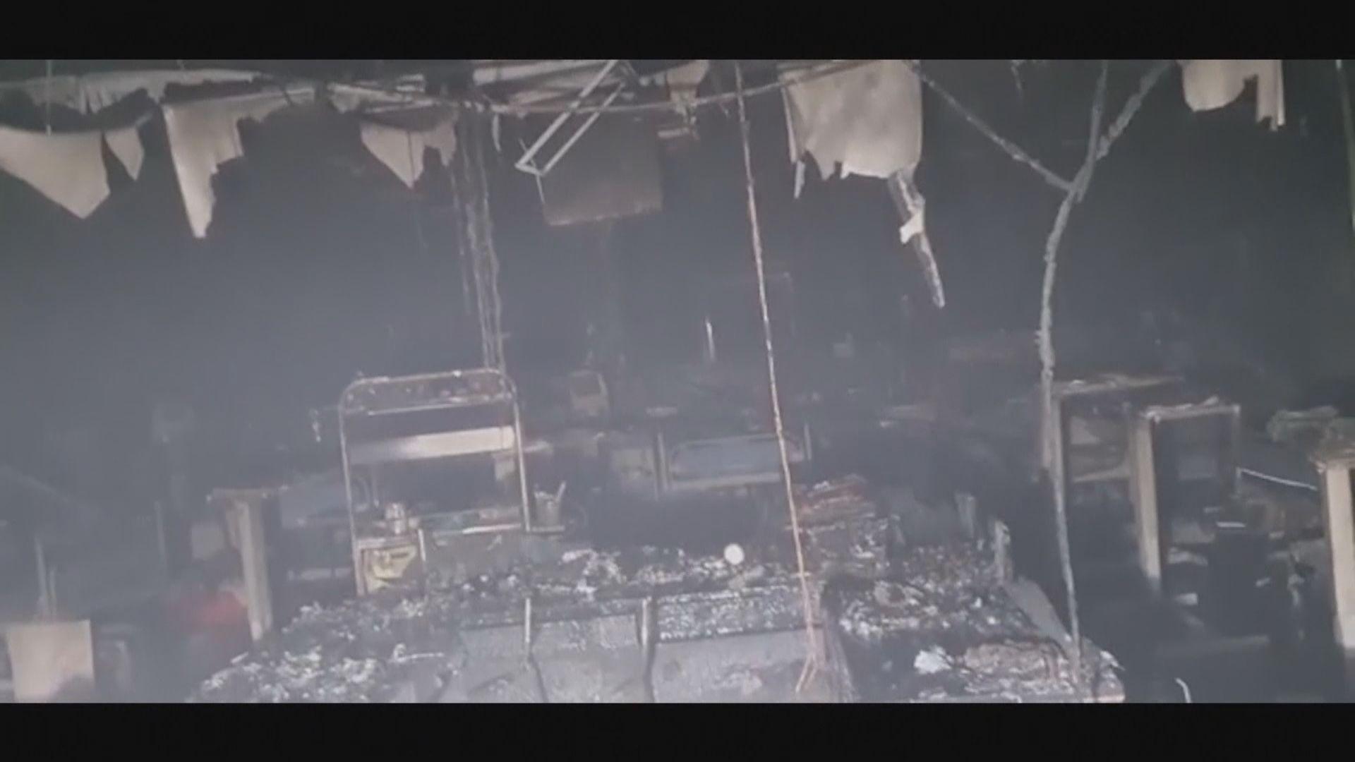 印度醫院大火 十多名新冠患者死亡