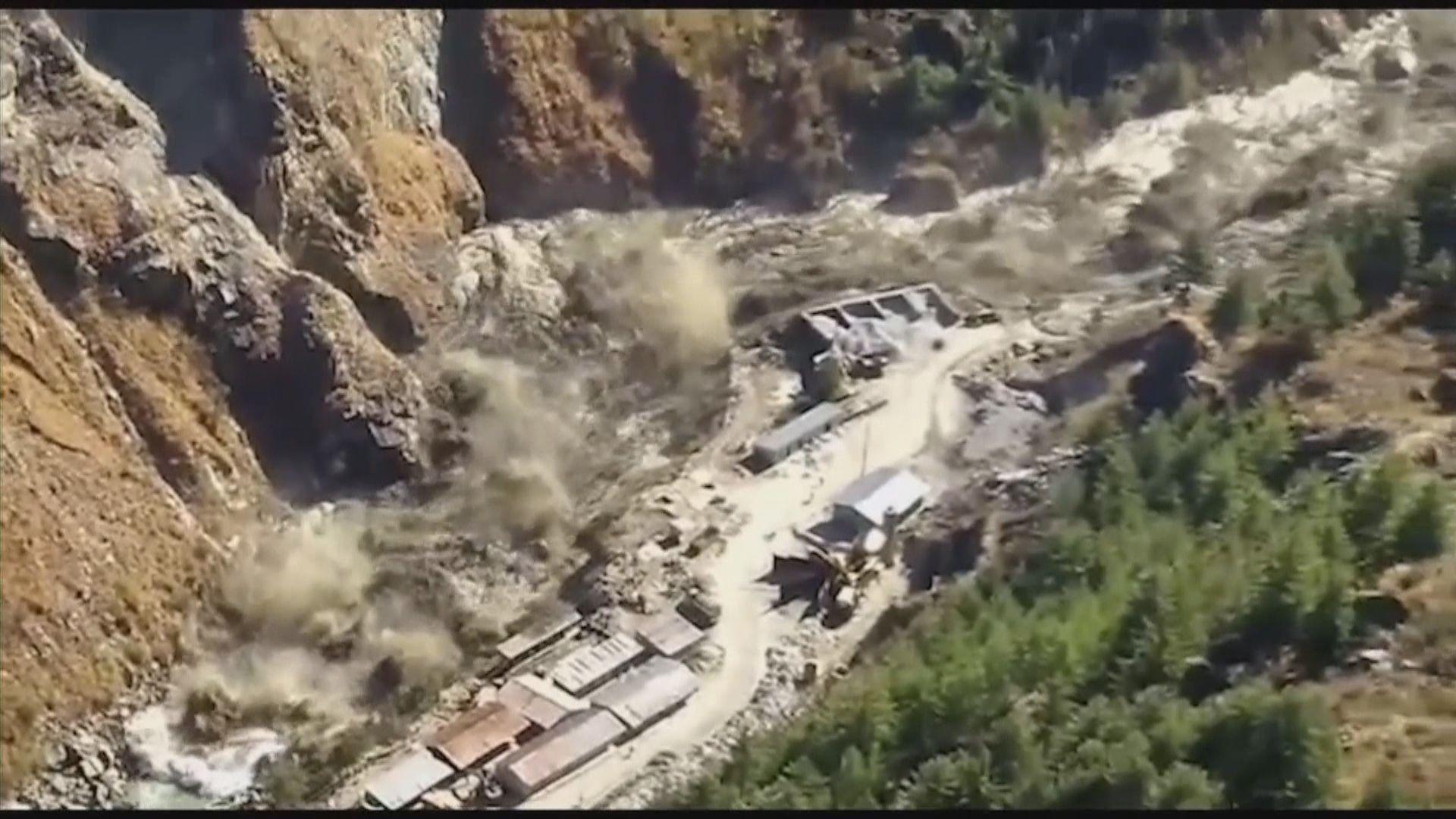 印度冰川斷裂引發洪災增至14死逾200人失蹤