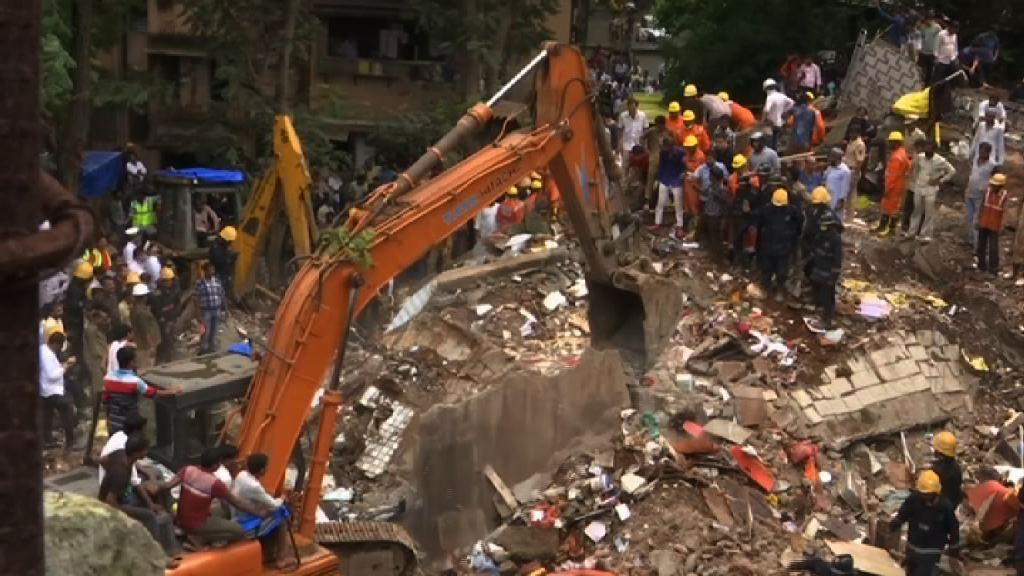 印度孟買樓宇倒塌造成多人死傷