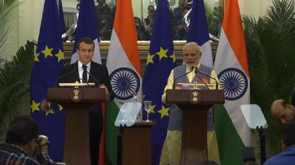 印、法同意合作確保印度洋航行自由
